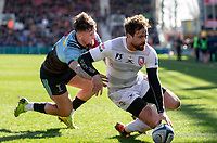 Gloucester's Danny Cipriani scores his sides fourth try<br /> <br /> Photographer Bob Bradford/CameraSport<br /> <br /> Gallagher Premiership - Harlequins v Gloucester Rugby - Sunday 10th March 2019 - Twickenham Stoop - London<br /> <br /> World Copyright &copy; 2019 CameraSport. All rights reserved. 43 Linden Ave. Countesthorpe. Leicester. England. LE8 5PG - Tel: +44 (0) 116 277 4147 - admin@camerasport.com - www.camerasport.com