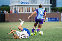 Allston, MA - Sunday July 31, 2016: Brittany Ratcliffe, Toni Pressley during a regular season National Women's Soccer League (NWSL) match between the Boston Breakers and the Orlando Pride at Jordan Field.