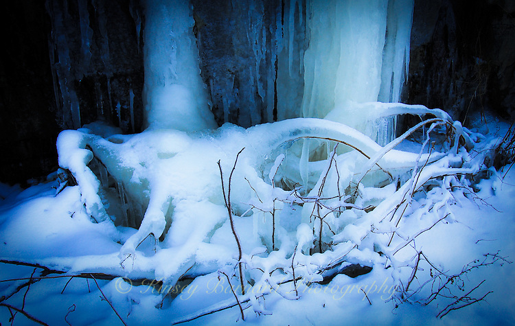 """""""LUMINOSITY-2""""<br /> <br /> Light from above creates a luminous effect on the ice laden laden landscape."""
