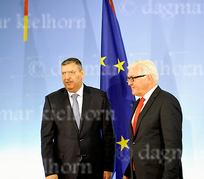 November 03-2016,German Foreign Office,Berlin,Germany<br /> The General Coordinator of the Syrian High Negotiation Committee (HNC), Riyad Hijab with German Foreign Minister Frank-Walter Steinmeier