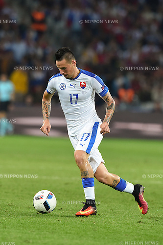 Marek Hamsik (Slovakia) ; <br /> June 15, 2016 - Football : Uefa Euro France 2016, Group B, Russia 1-2 Slovakia at Stade Pierre Mauroy, Lille Metropole, France.; ;(Photo by aicfoto/AFLO)