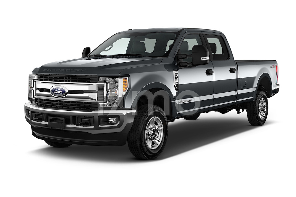 2017 Ford F-350 XLT-Crew 4 Door Pickup Angular Front stock photos of front three quarter view
