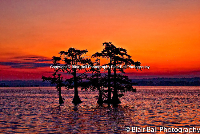 Reelfoot Sunrise from visitors center Reel Foot Lake