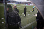 Visiting manager Gary Jardine watching his team pressing for a second-half equaliser at Station Park, Forfar during the SPFL League 2 fixture between Forfar Athletic and Edinburgh City (yellow). It was the club's sixth and final meeting of City's inaugural season since promotion from the Lowland League the previous season. City came from behind to win this match 2-1, watched by a crowd of 446.