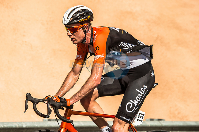 Pieter Weening (NED) Roompot-Charles climbs towards the finish of Stage 5 of the 10th Tour of Oman 2019, running 152km from Samayil to Jabal Al Akhdhar (Green Mountain), Oman. 20th February 2019.<br /> Picture: ASO/Kåre Dehlie Thorstad | Cyclefile<br /> All photos usage must carry mandatory copyright credit (© Cyclefile | ASO/Kåre Dehlie Thorstad)