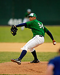 30 June 2007: Vermont Lake Monsters starting pitcher Hassan Pena on the mound during a game against the Lowell Spinners at Historic Centennial Field in Burlington, Vermont. The Spinners defeated the Lake Monsters 8-4 in the last game of their 3-game, NY Penn-League series...Mandatory Photo Credit: Ed Wolfstein Photo