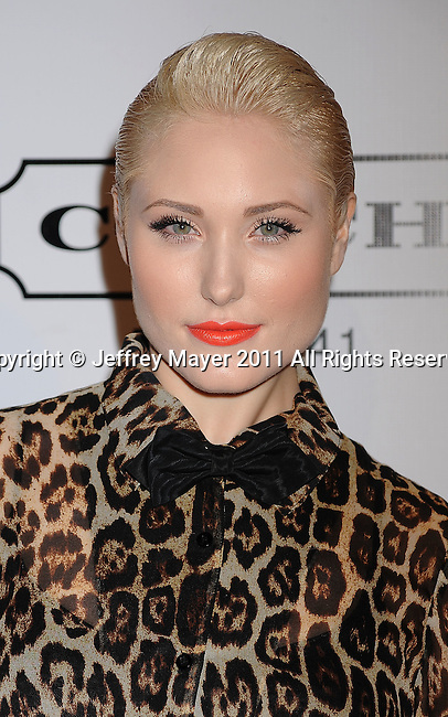 HOLLYWOOD, CA - SEPTEMBER 23: Hayley Hasselhoff  arrives at the 9th Annual Teen Vogue Young Hollywood Party at Paramount Studios on September 23, 2011 in Hollywood, California.