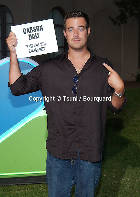 Carson Daly (Late Night with carson Daly) arriving at the All-Star Party for the new season of NBC at the Ritz Carlton in Pasadena, Los Angeles. July 24, 2002.           -            DalyCarson01.jpg