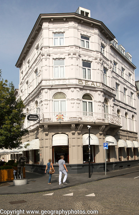 Hotel Beaumont built 1912 in the Wyck area of central Maastricht, Limburg province, Netherlands