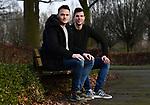 2018-03-06 / Voetbal / Seizoen 2017-2018 / Ex ploegmaats bij ASV Geel, Sam Vanaken (l.) en Kristiaan Haagen, spelen zaterdag tegen mekaar<br /> <br /> ,Foto: Mpics.be
