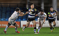 Adam Hastings of Bath United goes on the attack. Aviva A-League match, between Bath United and Exeter Braves on November 30, 2015 at the Recreation Ground in Bath, England. Photo by: Patrick Khachfe / Onside Images