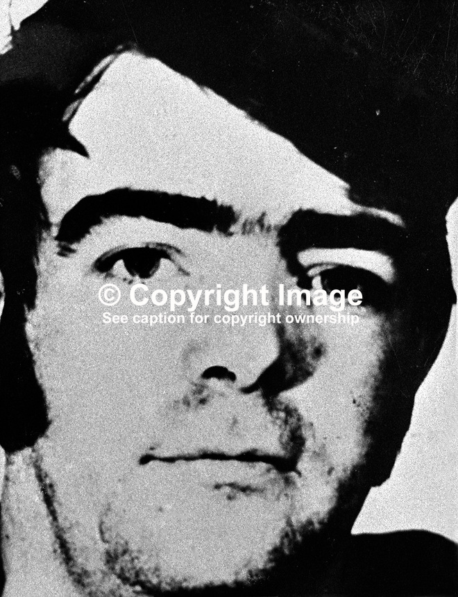 Martin Francis Brady, 22 years, driver, Granville Street, Belfast - defendent, London Bombs Trial, 197311050689.<br />