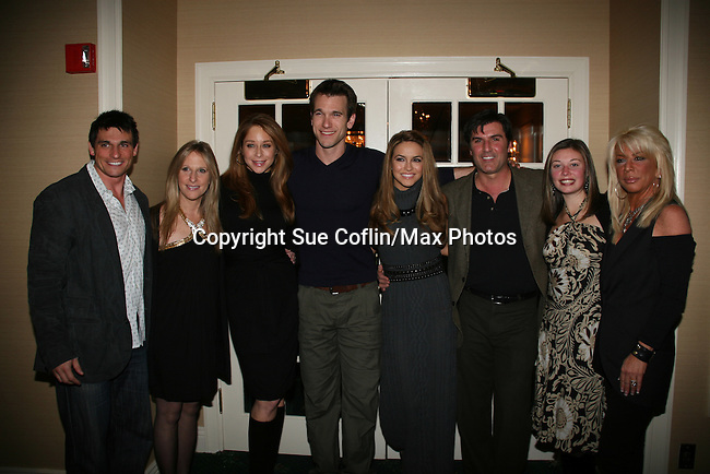 Host Billy Freda, Marcia Tovsky, Jamie Luner, Adam Mayfield, Chrishell Stause, Vincent Irizarry, Nicole, Robin at a benefit for American Lung Association on December 6, 2009 at Mezza on the Green at the Lawrence Country Club. (Photos by Sue Coflin/Max Photos)