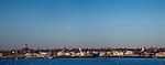 Three towers over Marblehead Harbor at sunrise, Marblehead, MA, USA