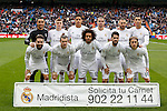 Real Madrid´s initial team players during 2015/16 La Liga match between Real Madrid and Sporting de Gijon at Santiago Bernabeu stadium in Madrid, Spain. January 17, 2015. (ALTERPHOTOS/Victor Blanco)