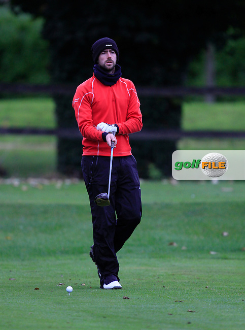 Dara Lernihan (Elm Park G.C) on the 3rd tee during Round 4 of The Cassidy Golf 103rd Irish PGA Championship in Roganstown Golf Club on Sunday 13th October 2013.<br /> Picture:  Thos Caffrey / www.golffile.ie