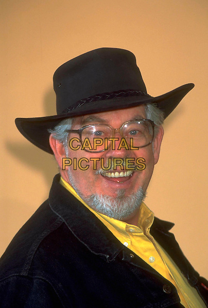 ROLF HARRIS.Ref: 4377.pre 2001.headshot portrait black hat glasses beard facial hair .CAP/HT.©Hugh Thompson/Capital Pictures.