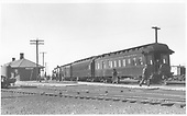 Parlor car &quot;Durango&quot; on end of San Juan train at Antonito depot.<br /> D&amp;RGW  Antonito, CO  7/4/1941