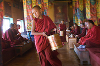 Monks at Diskit Monastery.