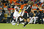 18 September 2004: Damani Ralph (left) tries to get past Bryan Namoff (26) early in the game. DC United defeated the Chicago Fire 3-1 at RFK Stadium in Washington, DC in a regular season Major League Soccer game..
