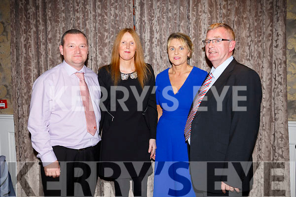 Jobie  Costello, Denise Costello, Marie Casey and  Jerome Casey  at the Kerry Ladies Gaelic Football Association Awards in The Rose Hotel on Saturday night.