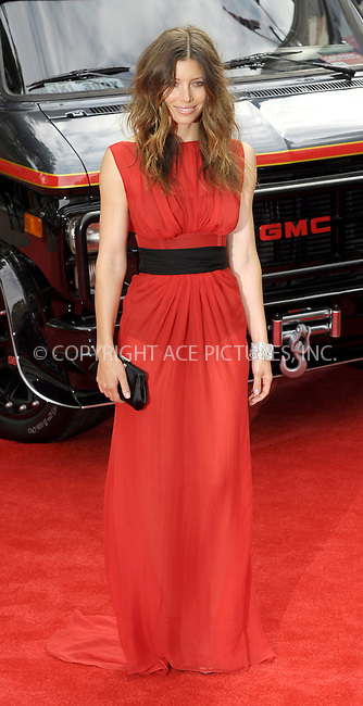 "WWW.ACEPIXS.COM . . . . .  ..... . . . . US SALES ONLY . . . . .....July 27 2010, London....Jessica Biel at the UK premiere of ""The A-Team"" on July 27 2010 in London....Please byline: FAMOUS-ACE PICTURES... . . . .  ....Ace Pictures, Inc:  ..Tel: (212) 243-8787..e-mail: info@acepixs.com..web: http://www.acepixs.com"