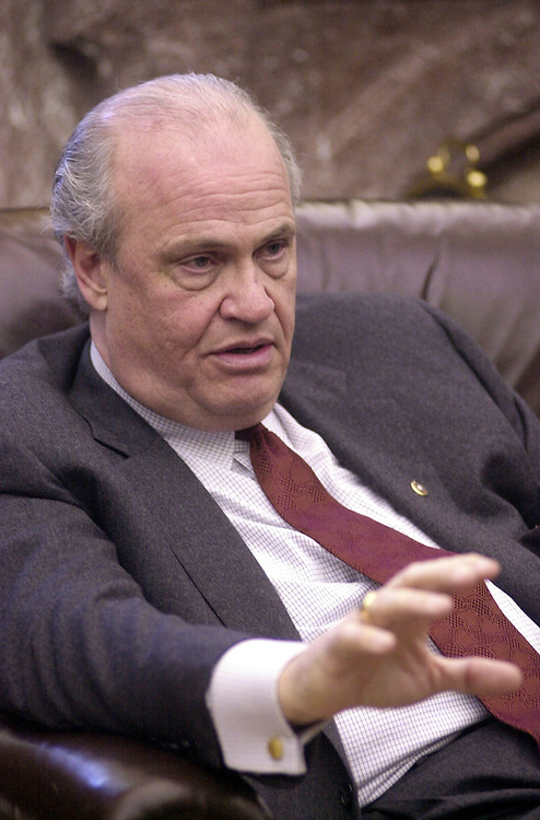 Thompson032701 --  Sen. Fred Thompson, R-TN, talks about his CFR amendment that survied a key vote in the Senate.