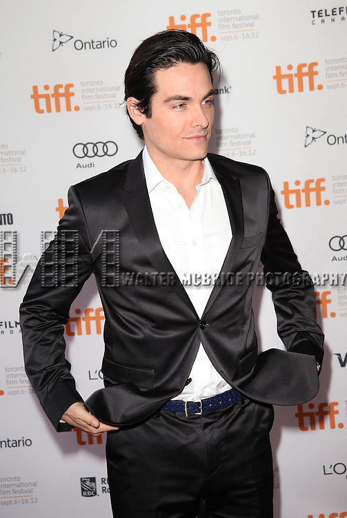 Kevin Zegers attending the The 2012 Toronto International Film Festival.Red Carpet Arrivals for 'Writers' at the Ryerson Theatre in Toronto on 9/9/2012