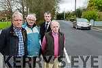 local residents of  The Old Killeen Road are concerned at the speed of motor vehicles during  school times . Pictured Jack O Driscoll, Paddy Tobin and Michael Golden with Cllr Pa Daly