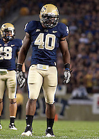 Pitt linebacker Dan Mason suffered a season-ending injury to his knee during this game. The Miami Hurricanes defeated the Pittsburgh Panthers 31-3 at Heinz Field, Pittsburgh, Pennsylvania on September 23, 2010.