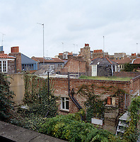 View over the neighbouring rooftops in Spitalfields, East London