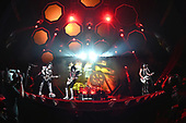 """SUNRISE FL - AUGUST 06: Gene Simmons, Tommy Thayer, Eric Singer and Paul Stanley of KISS perform during """"The End Of The Road World Tour"""" at The BB&T Center on August 6, 2019 in Sunrise, Florida. Photo by Larry Marano © 2019"""