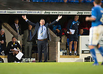 St Johnstone v FC Minsk...08.08.13 Europa League Qualifier<br /> Tommy Wright appeals<br /> Picture by Graeme Hart.<br /> Copyright Perthshire Picture Agency<br /> Tel: 01738 623350  Mobile: 07990 594431