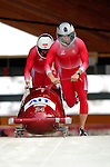 19 November 2005: Daniel Kupczyk pilots the Poland 1 sled to a 25th place finish at the 2005 FIBT AIT World Cup Men's 2-Man Bobsleigh Tour at the Verizon Sports Complex, in Lake Placid, NY. Mandatory Photo Credit: Ed Wolfstein.