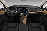 Stock photo of straight dashboard view of a 2018 Volvo XC90 Inscription 5 Door SUV