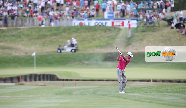 Jaco Van Zyl (RSA) on the first fairway during the Final Round of the 2015 Alstom Open de France, played at Le Golf National, Saint-Quentin-En-Yvelines, Paris, France. /05/07/2015/. Picture: Golffile | David Lloyd<br /> <br /> All photos usage must carry mandatory copyright credit (&copy; Golffile | David Lloyd)