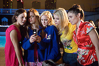 The members of the Fab Five up to no good in the Lifetime Original Movie 'Fab Five: The Texas Cheerleader Scandal.'