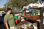 California, San Luis Obispo County: Thursday night festivities in the town of San Luis Obispo, with barbecue and a Farmers' Market..Photo caluis147-70872 .Photo copyright Lee Foster, www.fostertravel.com, 510-549-2202, lee@fostertravel.com