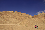 Israel, Negev, the way to the Ammonite Wall in Ramon Crater