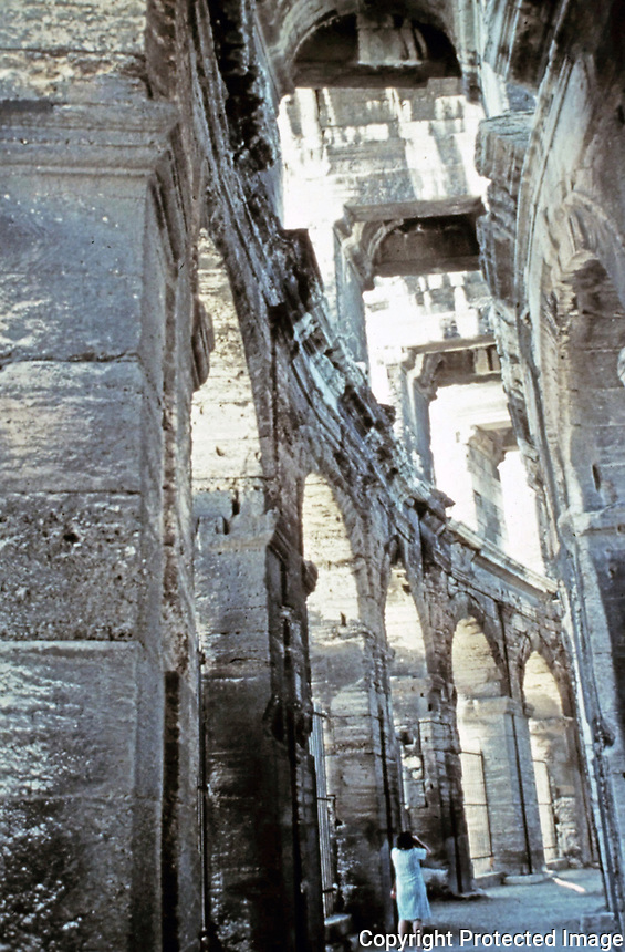Detail of outer ring of the Colosseum, Rome Italy 70 - 80 CE