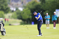 Reinier Saxton (NED) plays his 2nd shot on the 16th hole during Sunday's Final Round of the Northern Ireland Open 2018 presented by Modest Golf held at Galgorm Castle Golf Club, Ballymena, Northern Ireland. 19th August 2018.<br /> Picture: Eoin Clarke | Golffile<br /> <br /> <br /> All photos usage must carry mandatory copyright credit (&copy; Golffile | Eoin Clarke)