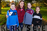 Ready to run at the 100th Junior Park Run in the Tralee town park on Sunday. L-r, Hazel Cantillion, Evonne Diggins, Grace Cantillion and Ella Diggins all from Causeway.