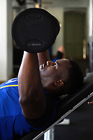 Géraud Clermont of Bath Rugby in the gym. Bath Rugby pre-season training on July 2, 2018 at Farleigh House in Bath, England. Photo by: Patrick Khachfe / Onside Images