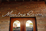 USA, California, San Diego, the entrance of the oceanfront restaurant the Marine Room in La Jolla