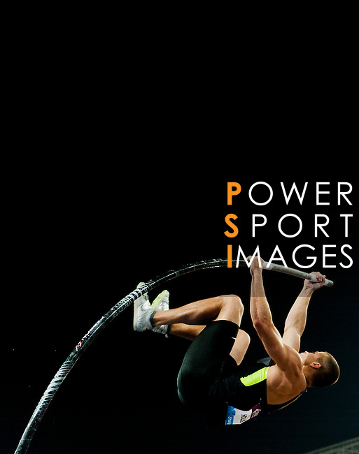 SHANGHAI, CHINA - MAY 19:  Mark Hollis of USA competes in the Men Pole Vault during the Samsung Diamond League on May 19, 2012 at the Shanghai Stadium in Shanghai, China.  Photo by Victor Fraile / The Power of Sport Images