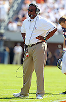 Oct 2, 2010; Charlottesville, VA, USA; Virginia head coach Mike London during the game against the Florida State Seminoles at Scott Stadium. Florida State won 34-14.  Mandatory Credit: Andrew Shurtleff-