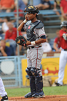 Christian Bethancourt during a game against the Rome Braves at McCormick Field Asheville, NC July 29, 2010. Asheville won the game 7-2.