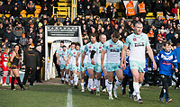 Picture by Allan McKenzie/SWpix.com - 11/02/2018 - Rugby League - Betfred Super League - Castleford Tigers v Widnes Vikings - the Mend A Hose Jungle, Castleford, England - Widnes come on to the field of play.