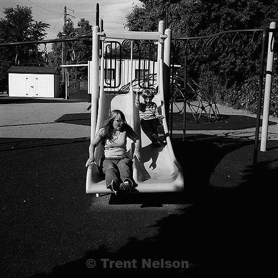 nathaniel nelson and christina nelson at emerson elementary.&amp;#xA;10/11/2003<br />