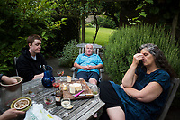 Alix, Matthew, Octavia and Louis at Twywell Manor House in North Hamptonshire, England.